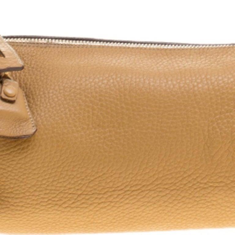 Prada Camel Leather Shoulder Bag For Sale 5