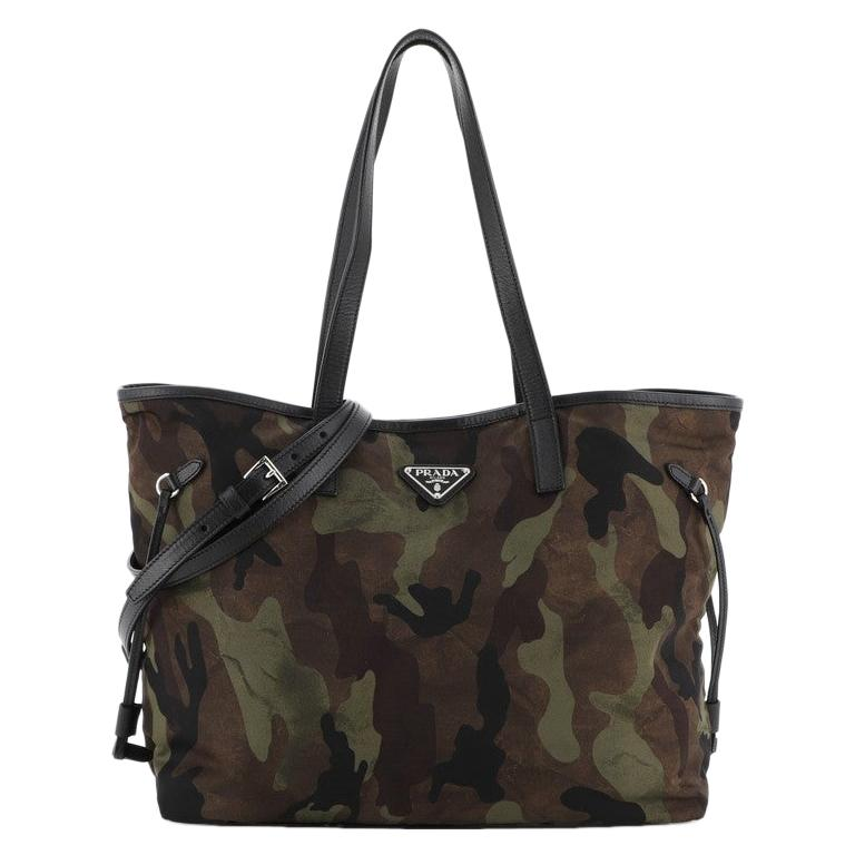 Prada Camouflage Convertible Open Tote Tessuto Medium
