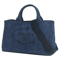 PRADA Canapa 2WAY Womens tote bag 1BG439 blue