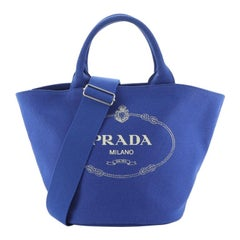 Prada Canapa Convertible Shopping Tote Canvas Medium