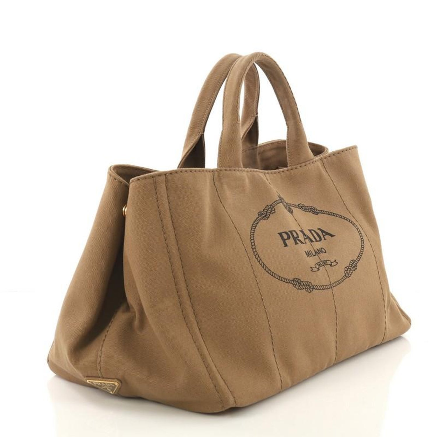 bcc494fe66c2a3 Prada Canapa Convertible Tote Canvas Large For Sale at 1stdibs