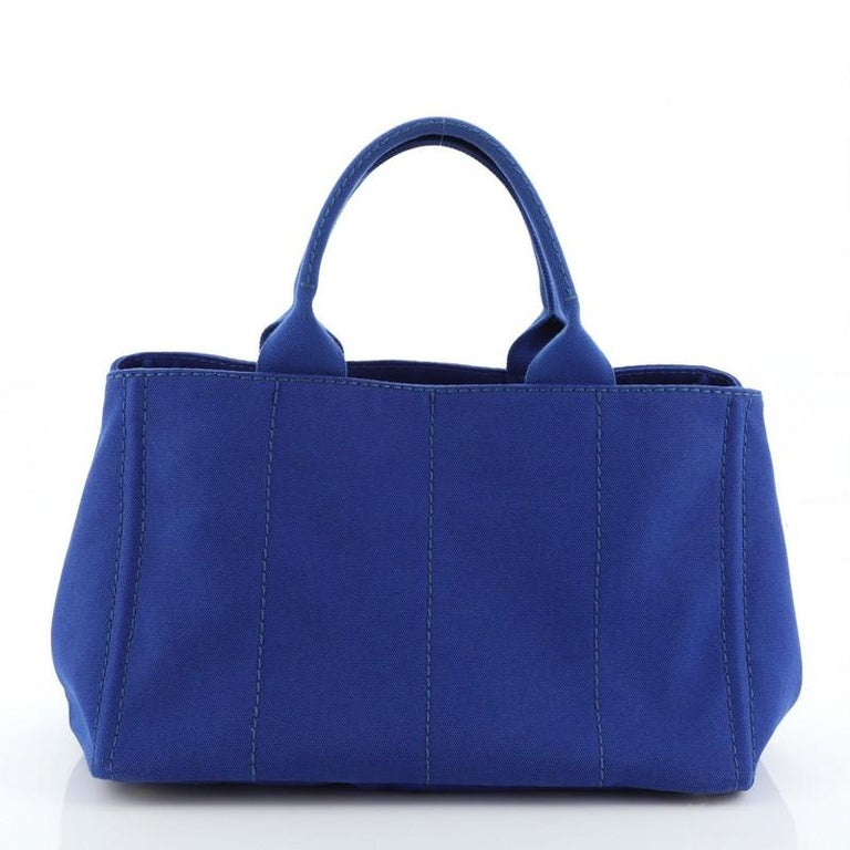 Prada Canapa Convertible Tote Canvas Large In Good Condition For Sale In New York, NY