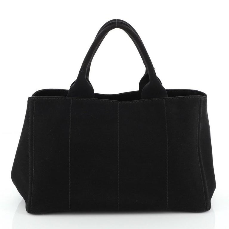 Women's or Men's Prada Canapa Convertible Tote Canvas Large For Sale