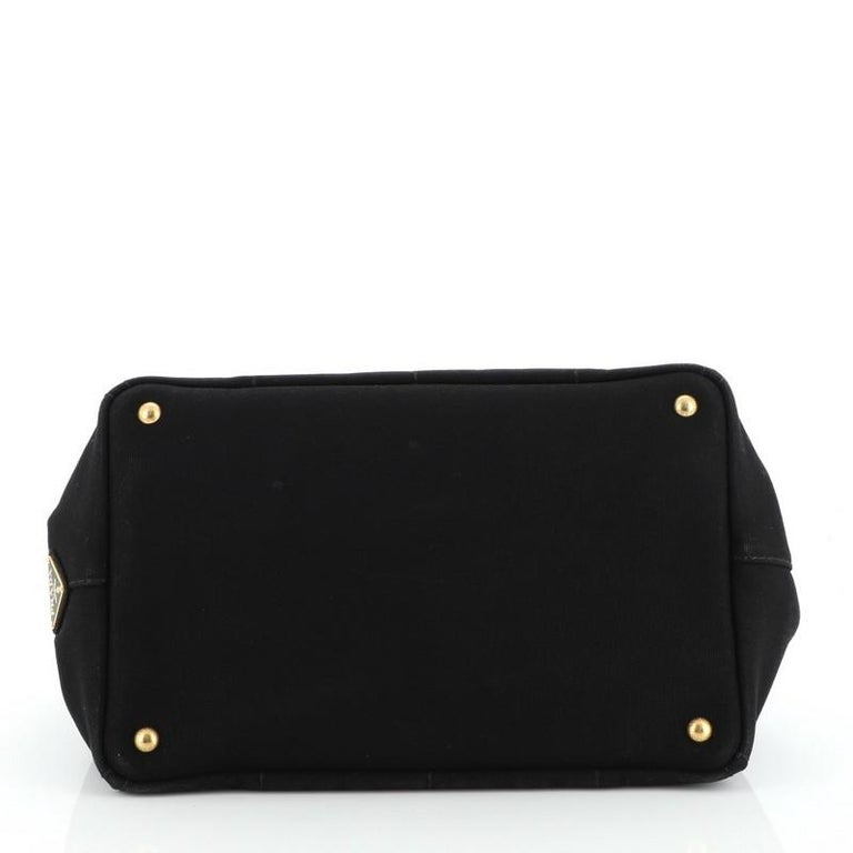 Prada Canapa Convertible Tote Canvas Large For Sale 1