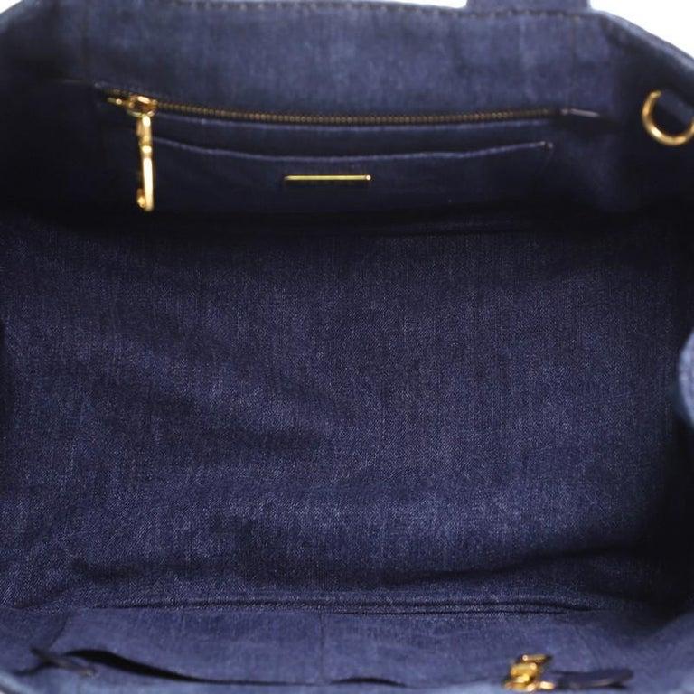Prada Canapa Convertible Tote Denim Medium For Sale 1