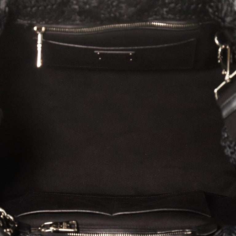 Prada Canapa Convertible Tote Straw Large For Sale 1