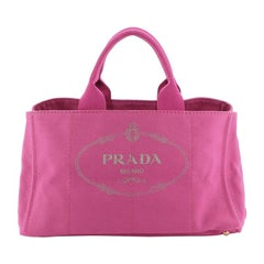 Prada Canapa Tote Canvas Large