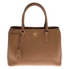 Prada Caramel Saffiano Lux Leather Galleria Tote