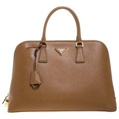 Prada Caramel Saffiano Lux Leather Medium Promenade Bag