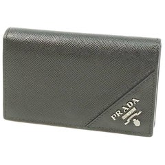 PRADA card case Mens business card case 2MC122 NERO( black)