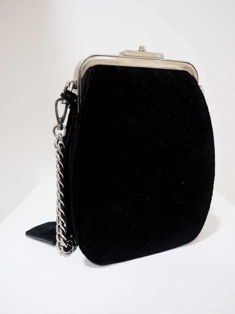 Prada Catwalk velvet lock purse NWOT For Sale 2