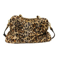 Prada Cavallino Animal Print Satchel