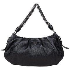 Prada Cervo Lux Leather Chain Shoulder Bag