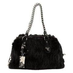Prada  Chain Bowler Bag Fur Medium