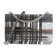Prada Chain Crossbody Bag Printed Saffiano Leather Medium