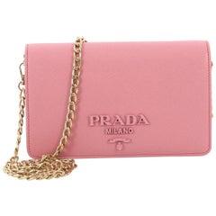 Prada Chain Flap Bag Saffiano Leather Small