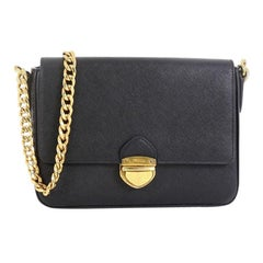 Prada Chain Flap Bag Saffiano Leather Small