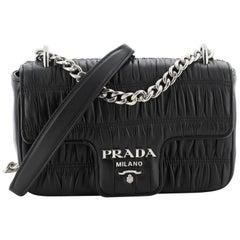 Prada Chain Flap Crossbody Bag Nappa Gaufre Small