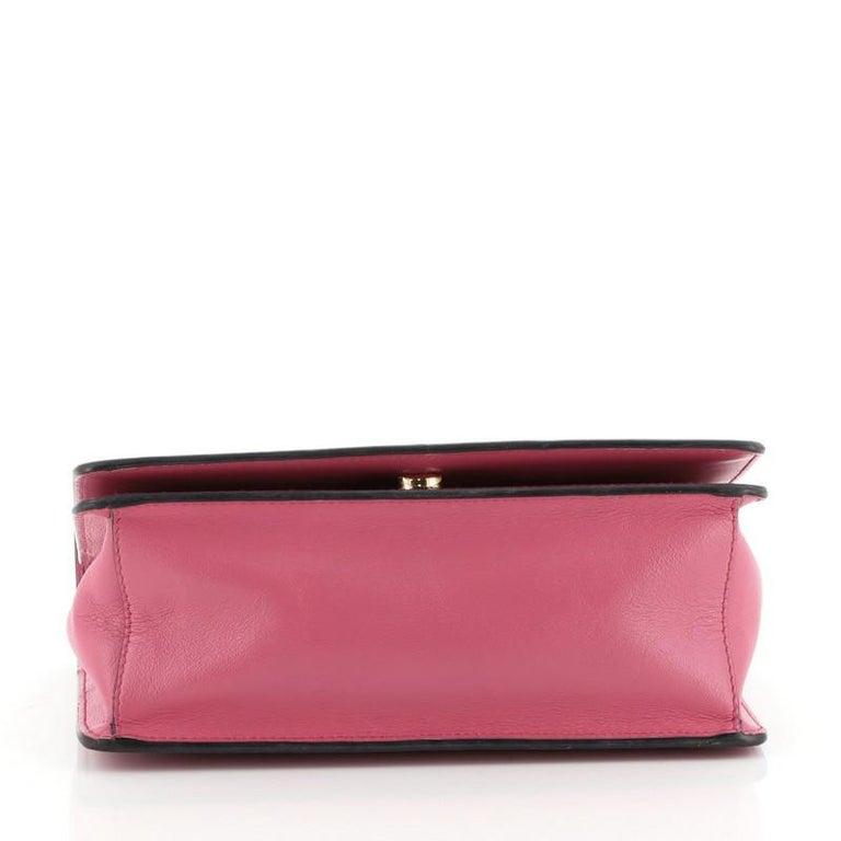 Women's or Men's Prada Chain Flap Crossbody Bag Vernice Saffiano Leather Small For Sale