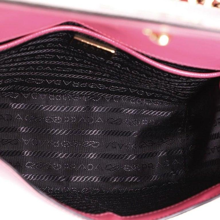 Prada Chain Flap Crossbody Bag Vernice Saffiano Leather Small For Sale 1