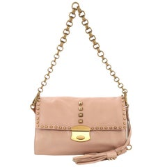 Prada Chain Strap Shoulder Bag Studded Leather Small