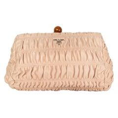 PRADA Cipria dusty rose Gaufre leather Frame Clutch Bag