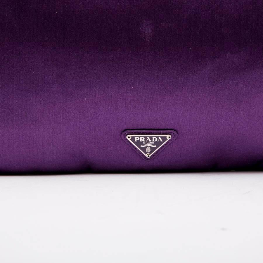 05548831638d netherlands womens prada clutch bag in purple satin swarovski crystals and  cabochons for sale a29d8 016ef