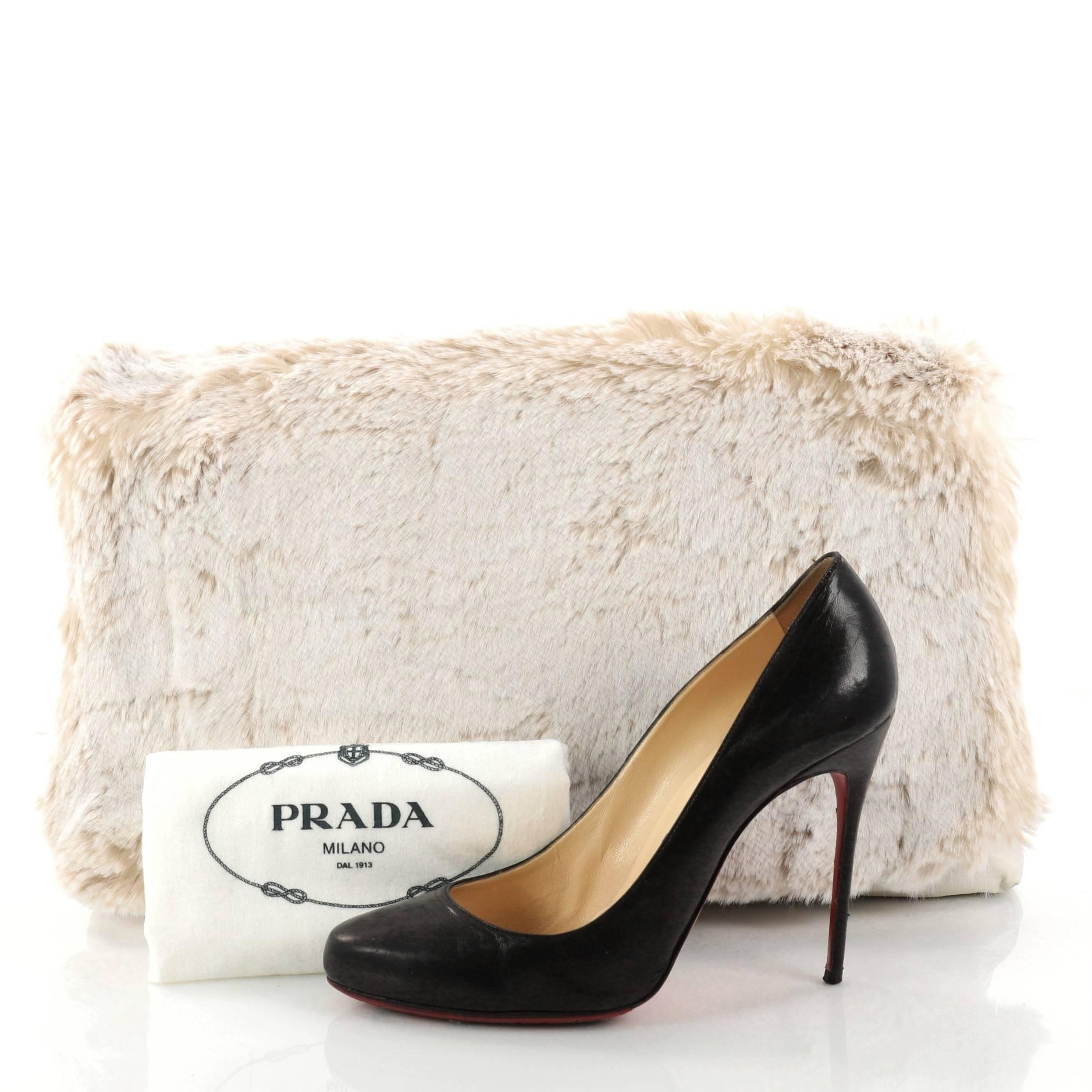 932c823ae0 Prada Clutch Faux Fur Oversized at 1stdibs