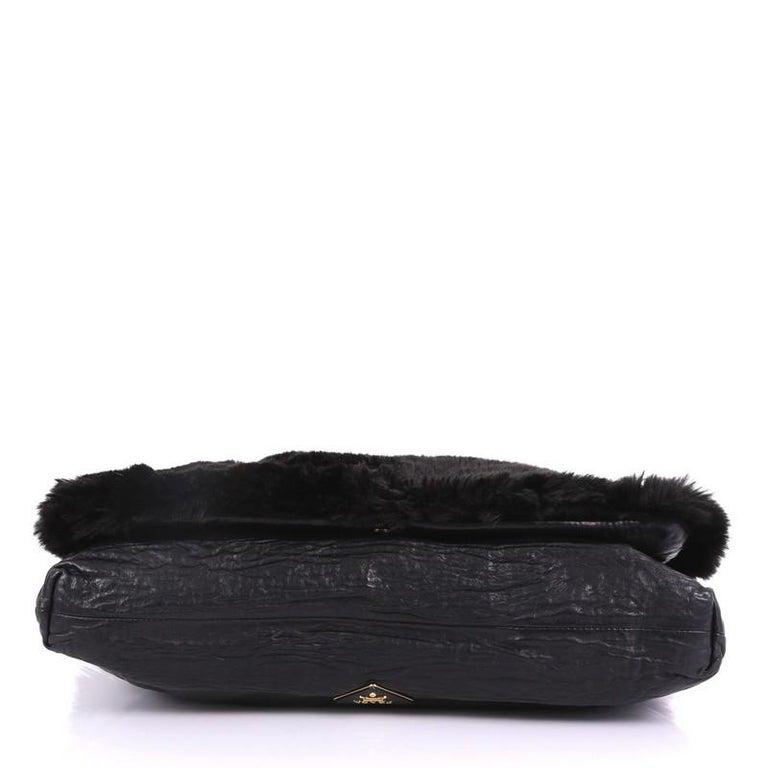 60ec2e9193 Prada Clutch Faux Fur Oversized For Sale at 1stdibs