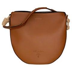 Prada Cognac Leather Bag with Cord Details