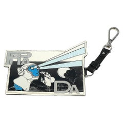 PRADA comics Print mon key Mens Pass Case 2MC031 TURCHESE