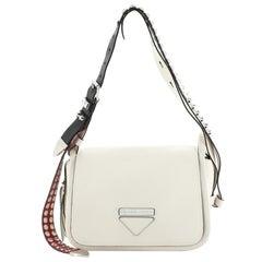 Prada Concept Flap Shoulder Bag Leather Medium