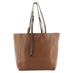Prada Concept Open Tote Leather with Studded Detail Medium