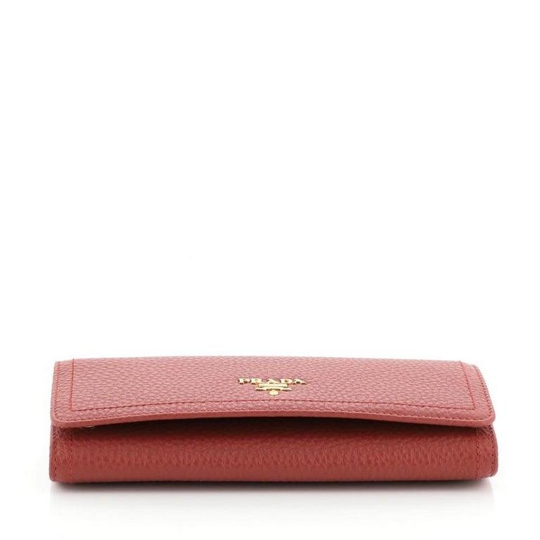 Prada Continental Wallet Vitello Daino Long 1