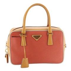 Prada Convertible Bauletto Bag Multicolor Saffiano Leather Small