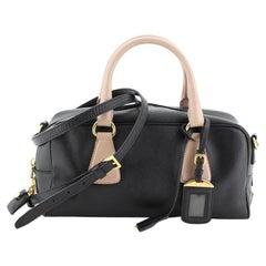 Prada Convertible Bauletto Bag Saffiano Leather East West