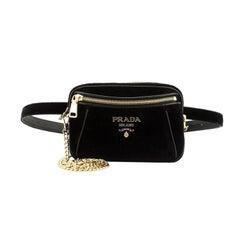 Prada Convertible Belt Bag Velvet Small