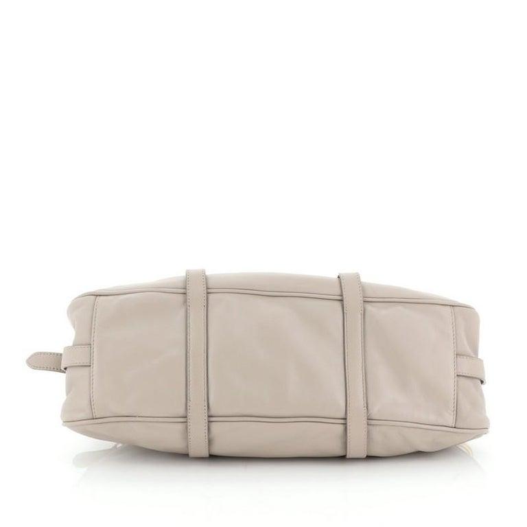 Women's or Men's Prada Convertible Belted Satchel Soft Calfskin Medium For Sale