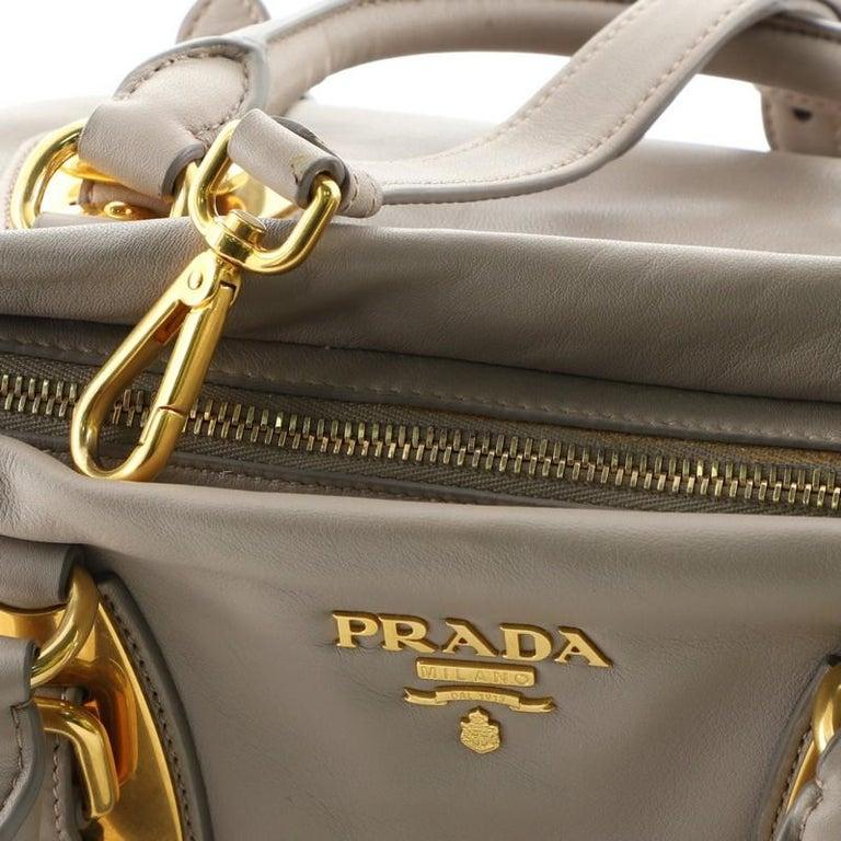 Prada Convertible Belted Satchel Soft Calfskin Medium For Sale 1