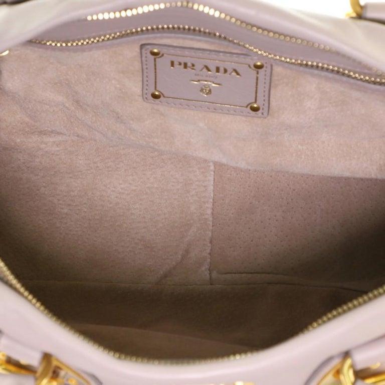 Prada Convertible Belted Satchel Soft Calfskin Medium For Sale 3