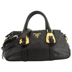 Prada Convertible Belted Satchel Soft Calfskin Small