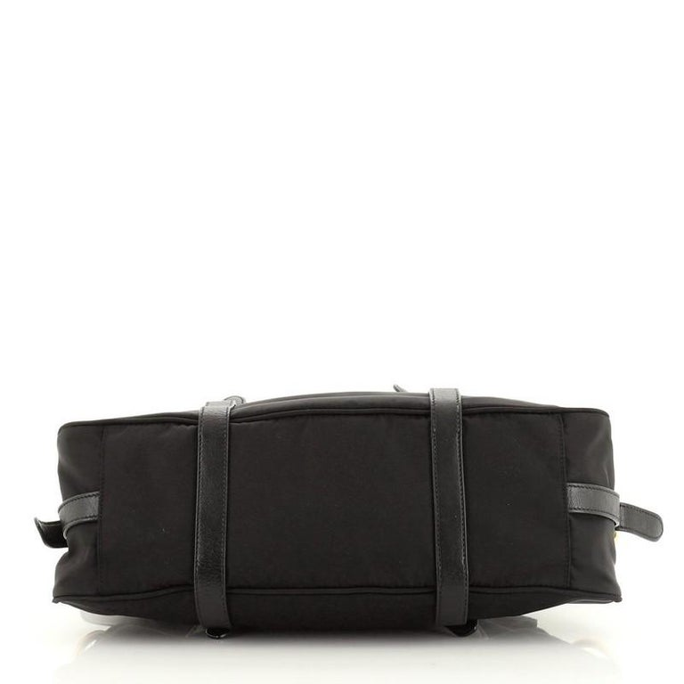 Women's or Men's Prada Convertible Belted Satchel Tessuto and Leather Small For Sale