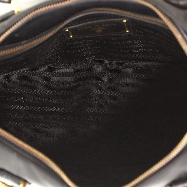 Prada Convertible Belted Satchel Tessuto and Leather Small For Sale 1