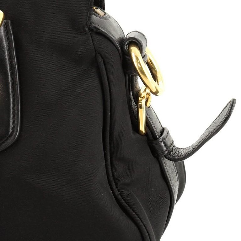 Prada Convertible Belted Satchel Tessuto and Leather Small For Sale 4