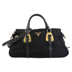 Prada Convertible Belted Satchel Tessuto with Leather Large