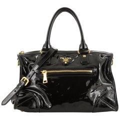Prada Convertible Boston Bag Patent Large