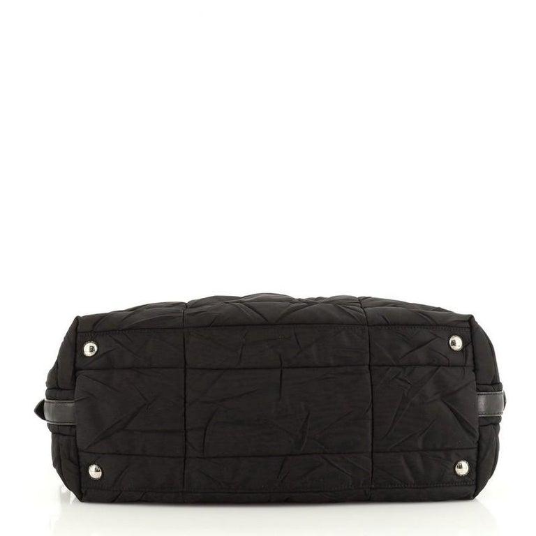 Women's or Men's Prada Convertible Boston Bag Quilted Tessuto For Sale