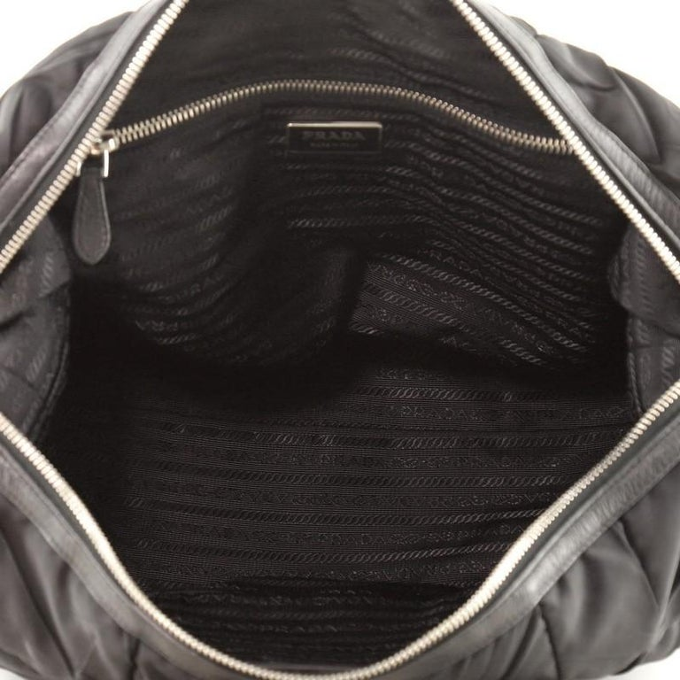 Prada Convertible Boston Bag Quilted Tessuto For Sale 1