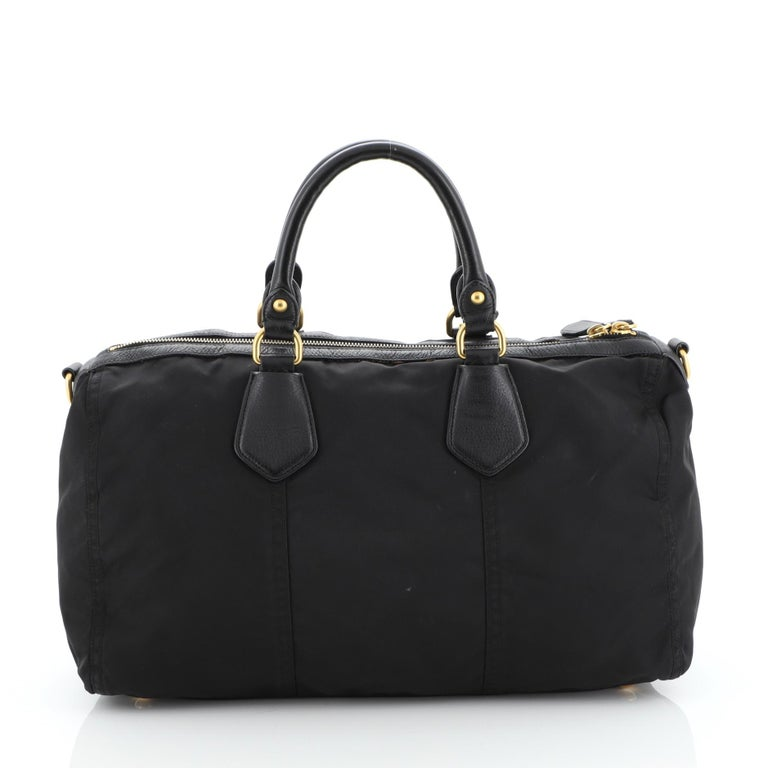 Prada Convertible Boston Bag Tessuto Large In Good Condition For Sale In New York, NY