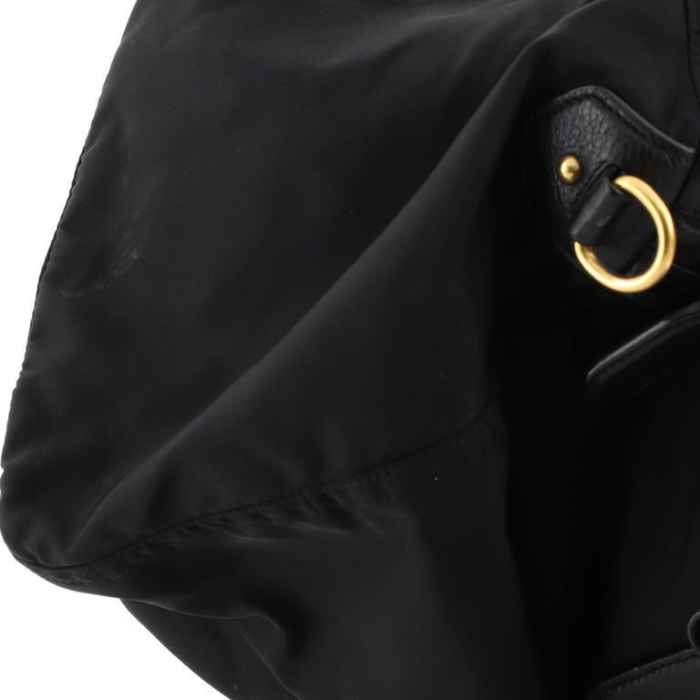 Prada Convertible Boston Bag Tessuto Large For Sale 2